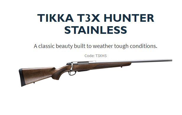 TIKKA T3X HUNTER STAINLESS